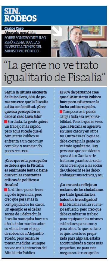 Entrevista A Carlos Caro En Perú 21 – 13/12/17