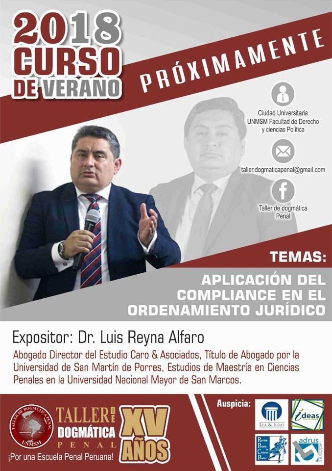 Luis Reyna Como Expositor En Taller De La Facultad De Derecho De UNMSM