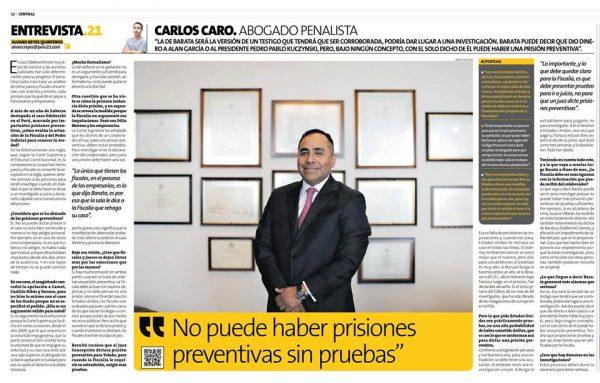 Entrevista A Carlos Caro En Perú21 10-02-18