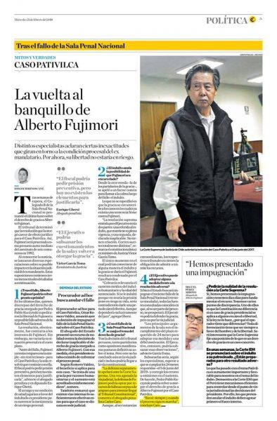 Carlos Caro Comenta En Diario El Comercio 21-02-18