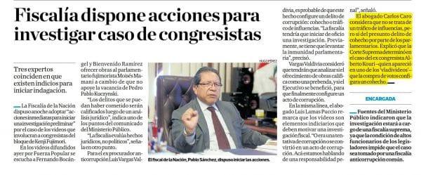 Carlos Caro Refiere En El Diario El Comercio Y En Perú21.pe 21-03-18