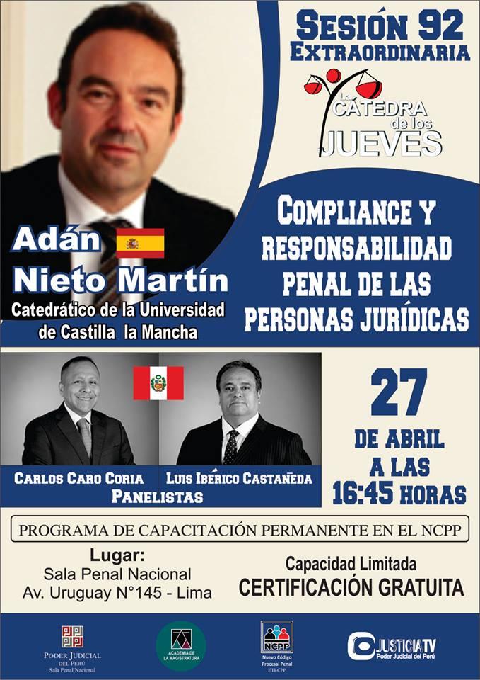 """Sesión Extraordinaria: """"Compliance Y Responsabilidad Penal De Las Personas Jurídicas"""""""