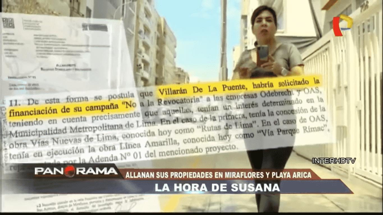 Carlos Caro En Panorama: Allanamiento A Propiedades De Susana Villarán Por Caso Lava Jato