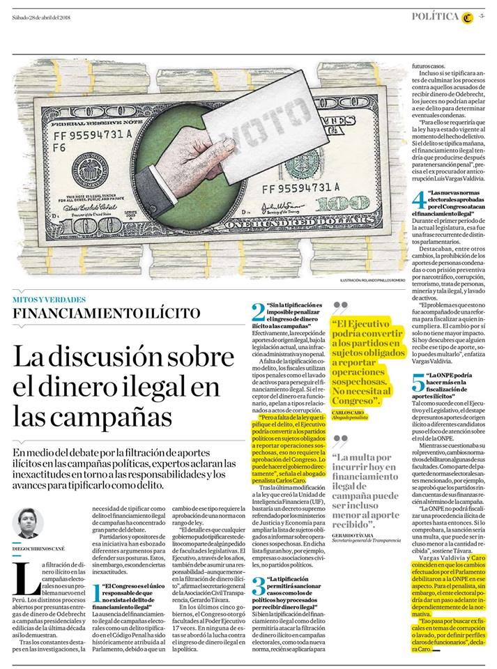 La Discusión Sobre El Dinero Ilegal En Las Campañas – El Comercio (28.04.18)