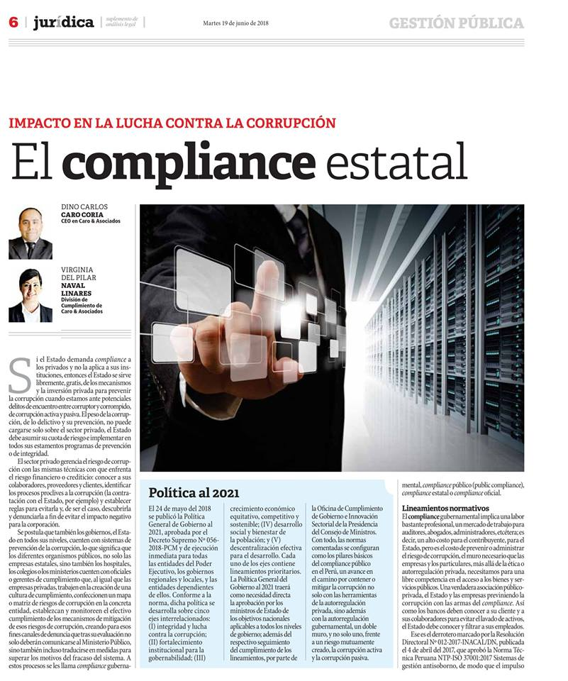 EL COMPLIANCE ESTATAL