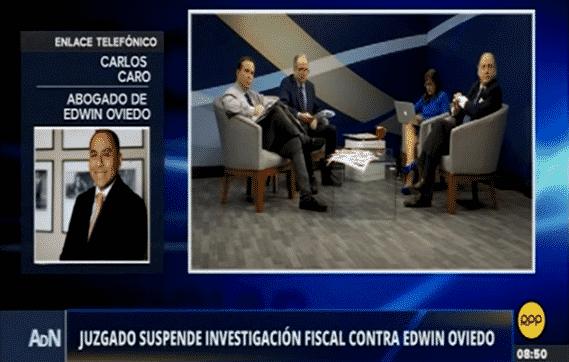 CARLOS CARO EN RPP – PJ SUSPENDE INVESTIGACIÓN CONTRA EDWIN OVIEDO