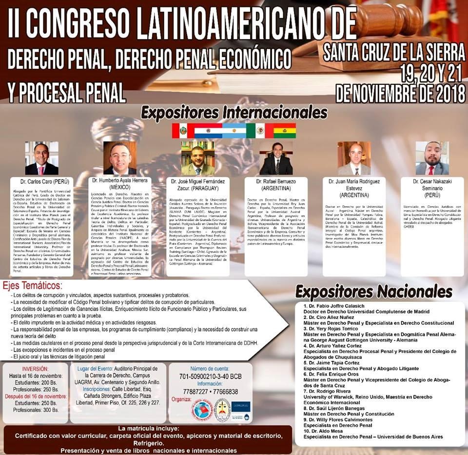 II Congreso Latinoamericano De Derecho Penal, Derecho Penal Económico Y Procesal Penal