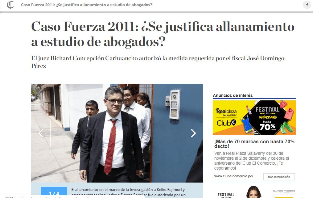 Carlos Caro Coriaopina EnDiario El Comercio (Perú)(20.11.18)