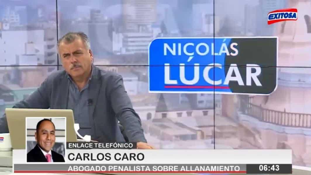 Entrevista ACarlos Caro CoriaenExitosa Noticias, Con Nicolás Lúcar (21.11.18)