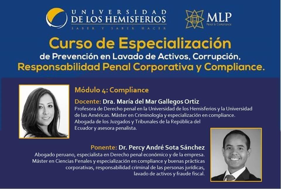 Curso De Especialización En Prevención Del Lavado De Activos, Corrupción, Responsabilidad Penal Corporativa Y Compliance.