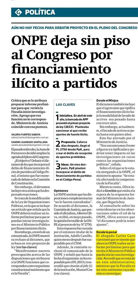 Carlos Caro Coriacomenta EnDiario Gestión(23.11.18)