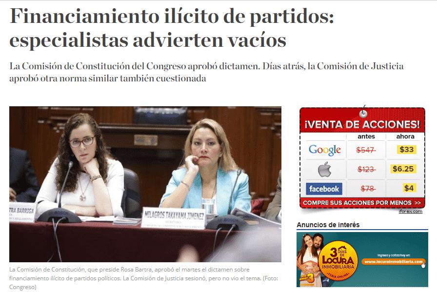 Carlos Caro Coriaopina En ElDiario El Comercio (Perú)(28.11.18)
