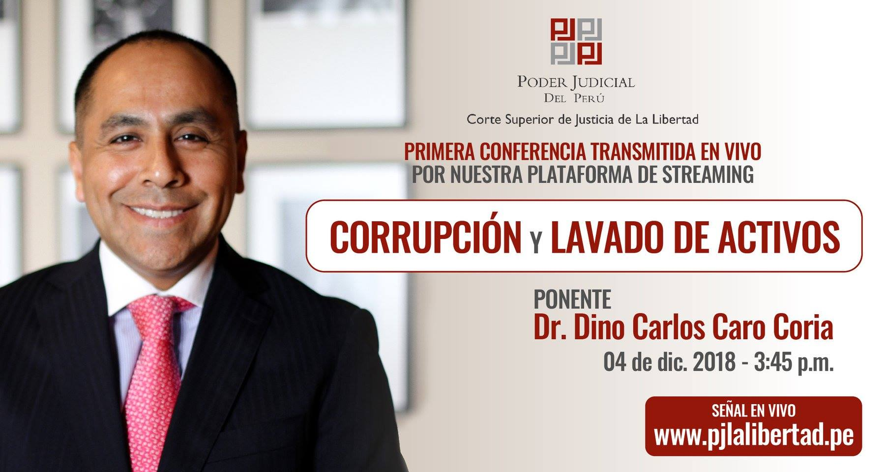 """Nuestro Socio Fundador, Carlos Caro Coria Participó Brindando La Conferencia """"Corrupción Y Lavado De Activos"""""""