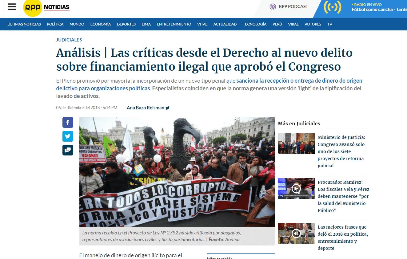 Carlos Caro Coriacomenta EnRPP Noticias(07.12.18)