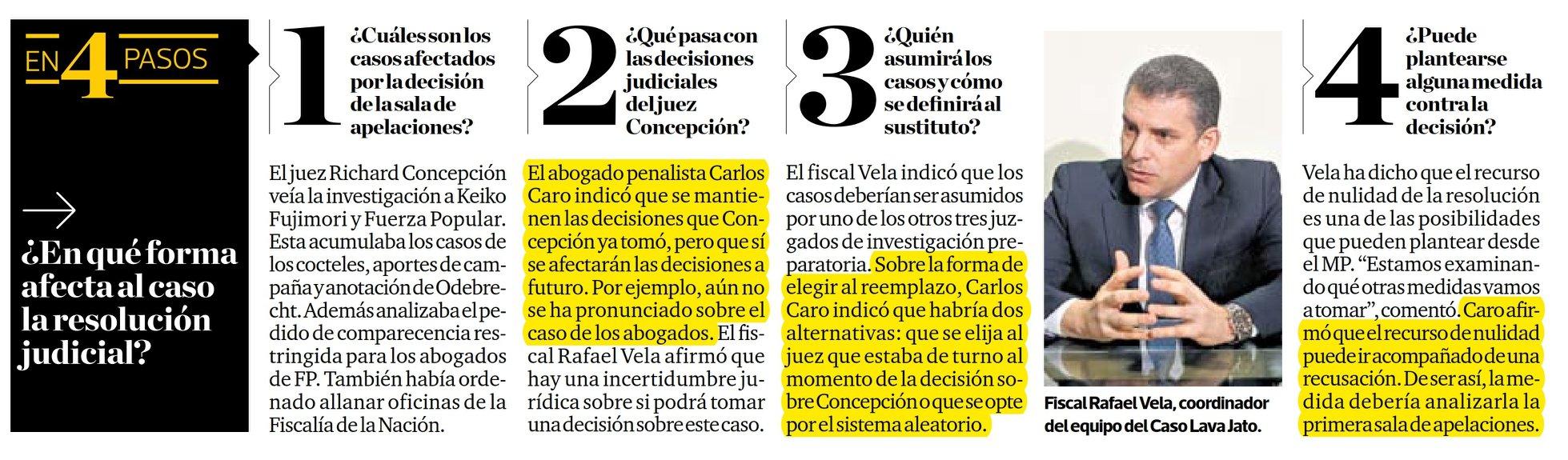 Carlos Caro Coriarefiere En ElDiario El Comercio (Perú)(16.01.19)
