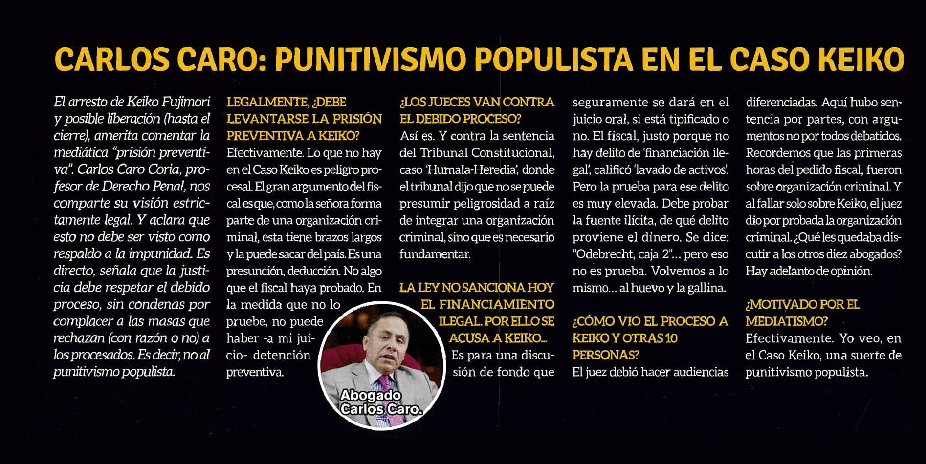 """""""Punitivismo Populista En El Caso Keiko"""""""