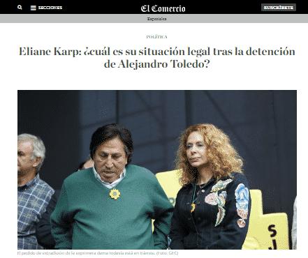 Situación Legal De La Ex Primera Dama, Eliane Karp, Quien Tiene Una Orden De Extradición En Trámite En Los EE.UU. Por El Caso Ecoteva.