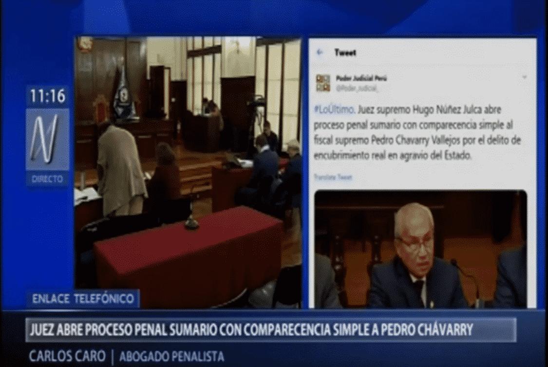 La Resolución Del Juez Hugo Nuñez, Quien Abrió Proceso Penal Sumario Contra El Fiscal Supremo Pédro Chávarry, Por El Presunto Delito De Encubrimiento Real.