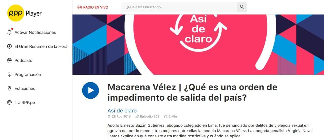 El Caso De Adolfo Bazán Gutiérrez, Abogado Que Fue Denunciado Por Delitos De Violencia Sexual En Agravio De, Por Lo Menos, Tres Mujeres Entre Ellas La Modelo Macarena Vélez.