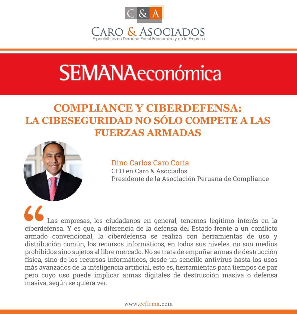 Compliance Y Ciberdefensa: La Cibeseguridad No Sólo Compete A Las Fuerzas Armadas