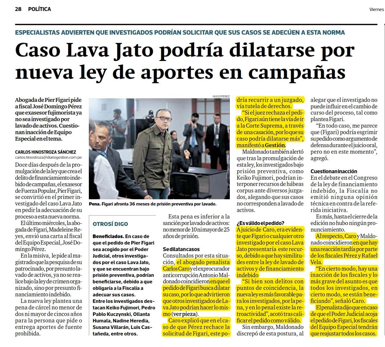 La Posibilidad Que Los Casos De Investigación Por Aportes De Campañas Electorales, Lava Jato, Puedan Dilatarse, Al Solicitar La Adecuación A La Reciente Ley 30997