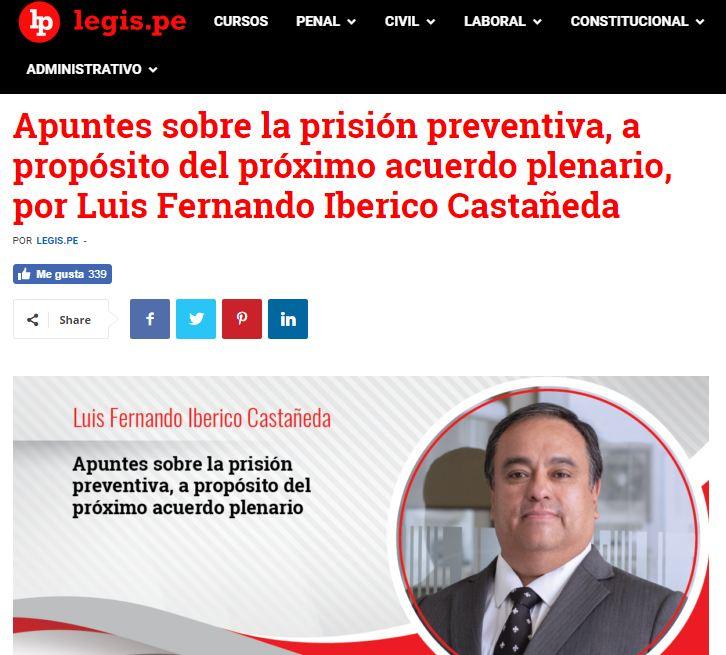 Apuntes Sobre La Prisión Preventiva, A Propósito Del Próximo Acuerdo Plenario.