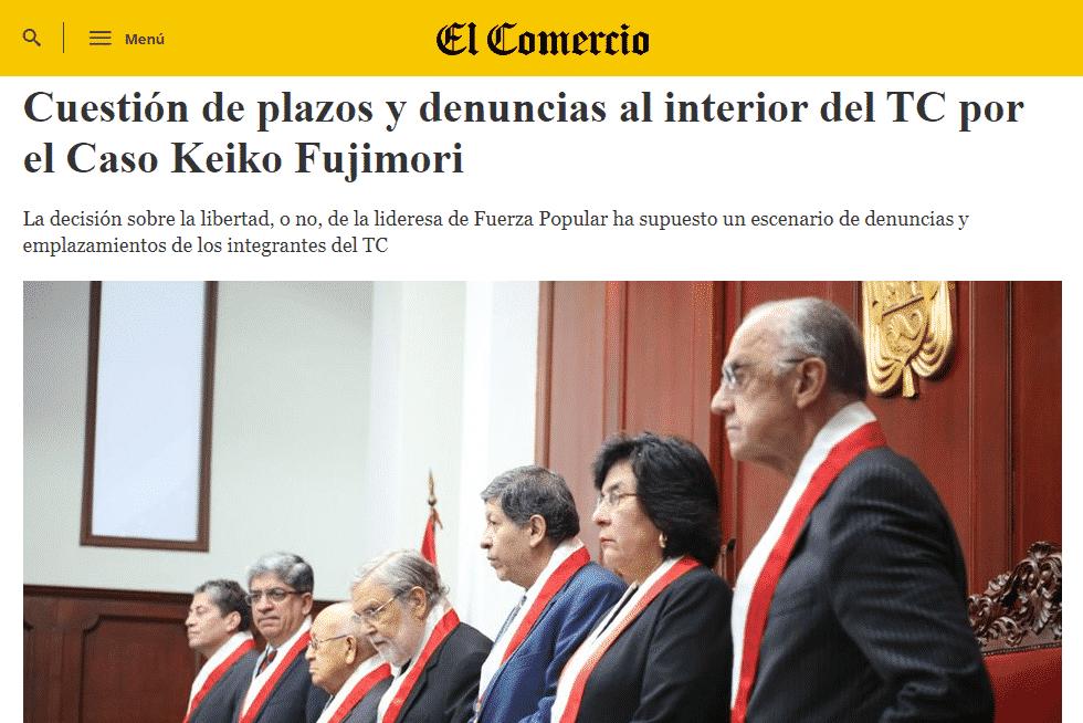 Las Declaraciones De La Magistrada Marianella Ledesma, Por Una Presunta Propuesta Que Recibió Respecto A La Decisión Por El Hábeas Corpus De Keiko Fujimori