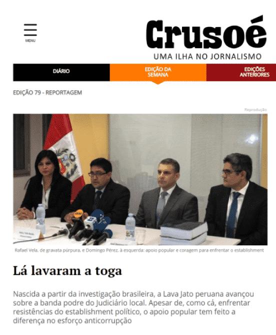 Revista Crusoé de Brasil: el caso lava jato en perú