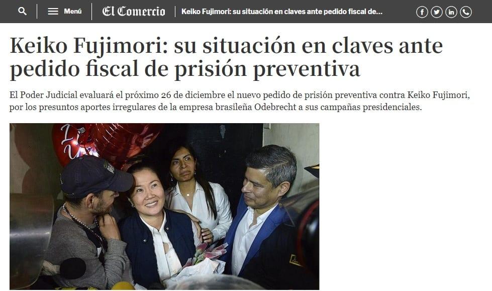 La Nueva Posibilidad De Que La Fiscalía Solicite Un Nuevo Pedido De Prisión Preventiva Contra Keiko Fujimori