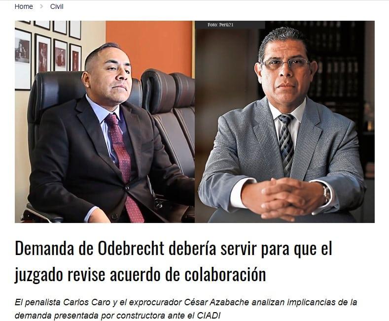 Las Implicancias Que Se Podría Dar Si La Empresa Odebrecht Persiste Con La Intención De Demandar Al Estado Ante El Ciadi