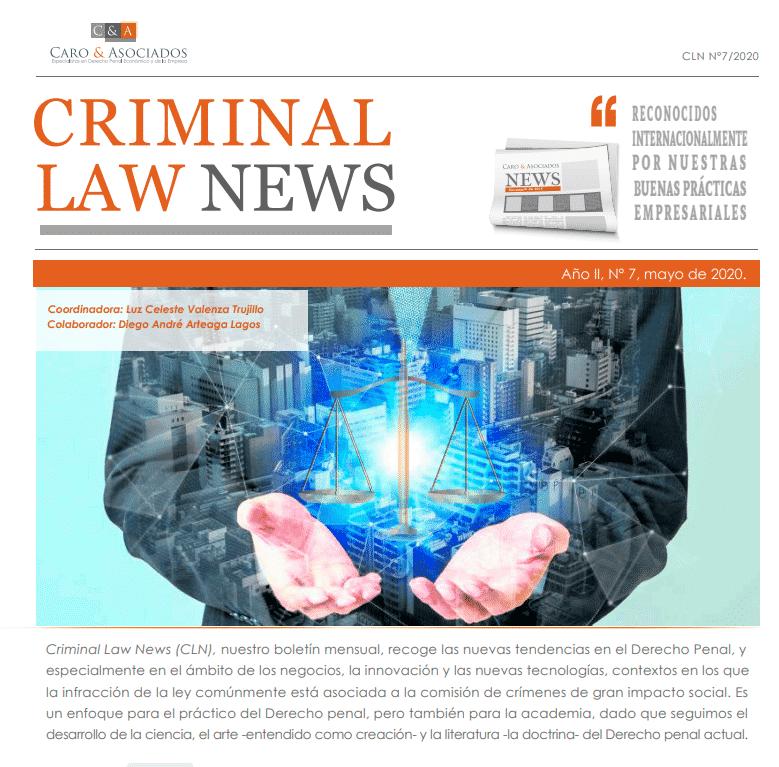 Criminal Law News (CLN), Año II, N° 7