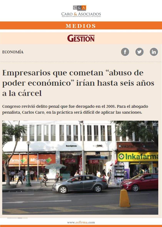 """Dino Carlos Caro Coria 05.06.20: Empresarios Que Cometan """"abuso De Poder Económico"""" Irían Hasta 6 Años A La Cárcel."""