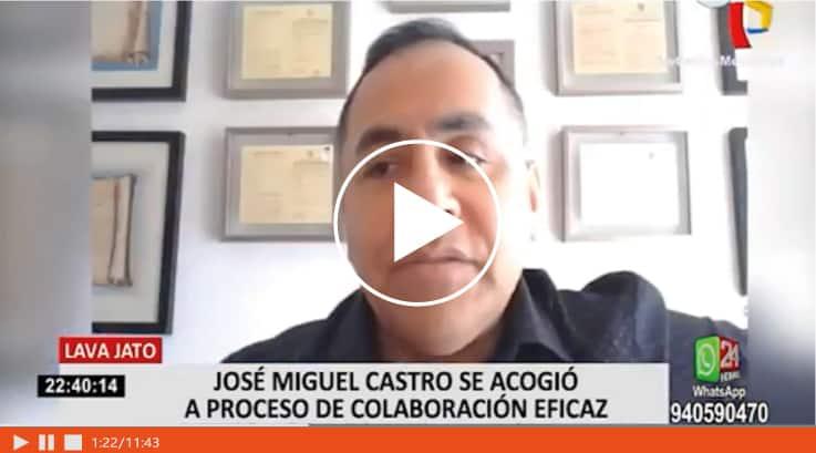 Dino Carlos Caro Coria Comenta Para Panamericana Televisión Sobre Las Declaraciones Del Exgerente De Lima Durante La Gestión De Susana Villarán.