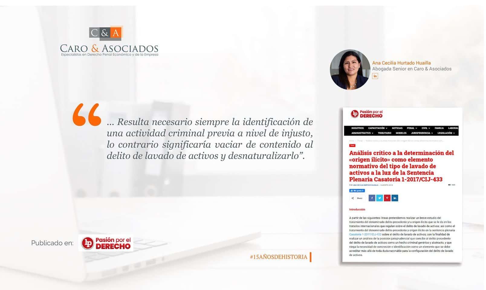 Artículo De Ana Hurtado Huailla, Publicado En LP – Pasión Por El Derecho.