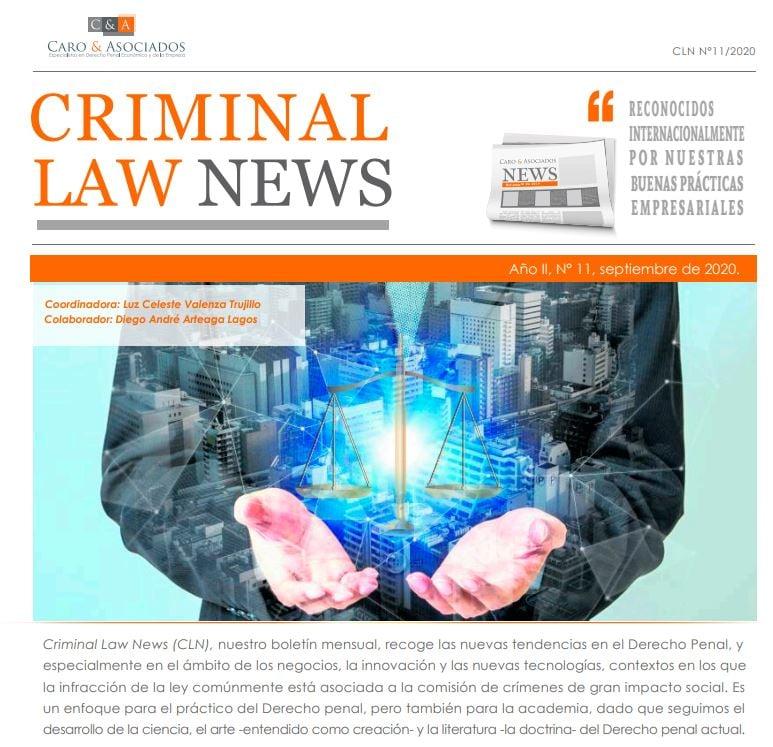 """""""Criminal Law News (CLN), Año II, N° 11″, Setiembre De 2020."""