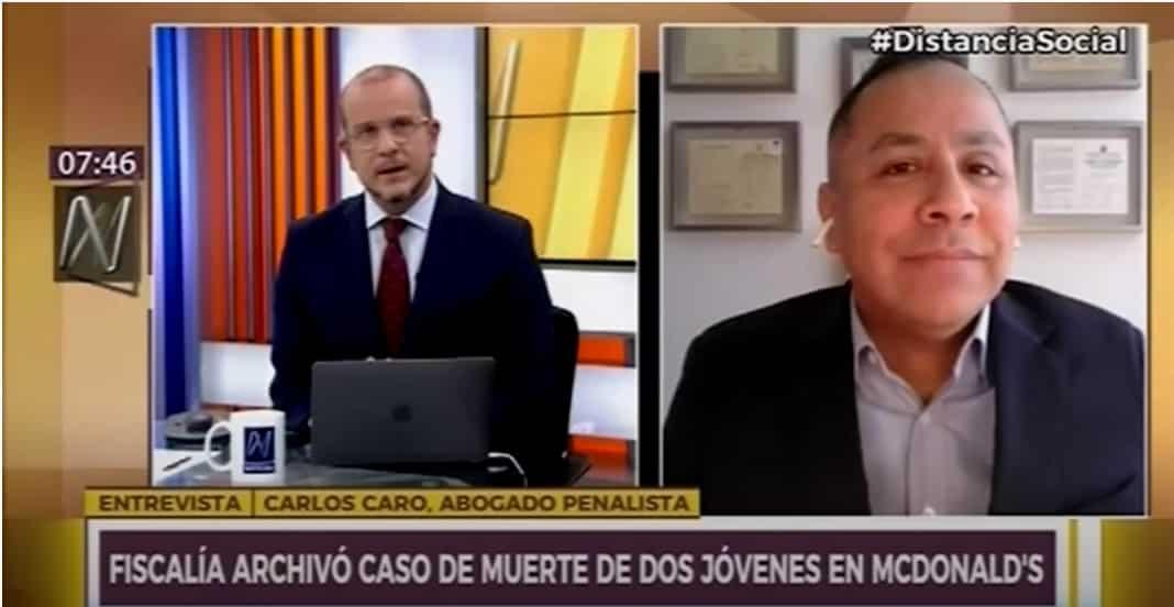 Dino Carlos Caro Coria, comenta en Canal N (24.9.20).