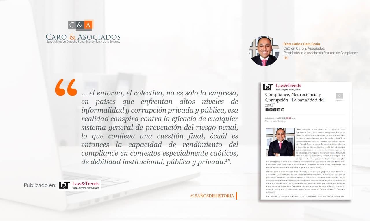 """Compliance, Neurociencia Y Corrupción """"La Banalidad Del Mal"""""""