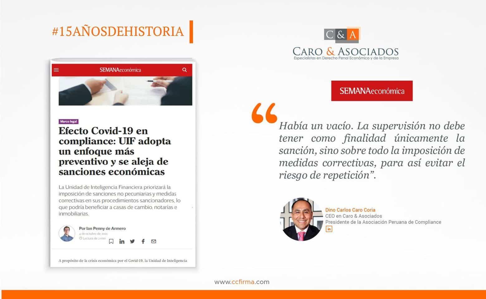 """#CaroAsociadosOpina: """"La Supervisión No Debe Tener Como Finalidad únicamente La Sanción""""."""
