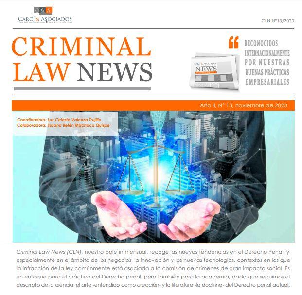 """""""Criminal Law News (CLN), Año II, N° 13″, Noviembre de 2020."""