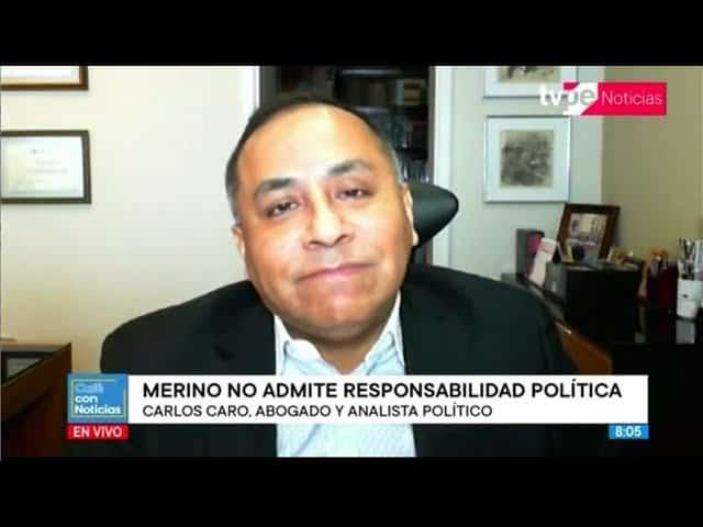 Dino Carlos Caro Coria, comenta en TVPerú Noticias (23.11.20)