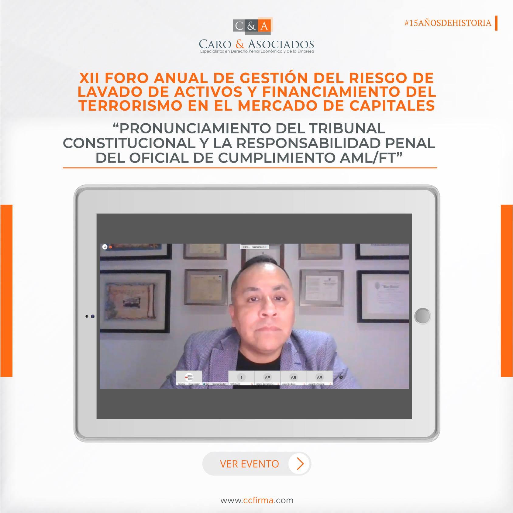 «Pronunciamiento Del Tribunal Constitucional Y La Responsabilidad Penal Del Oficial De Cumplimiento AML/FT»
