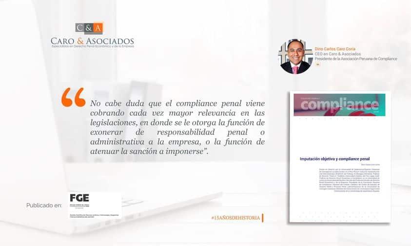 """Artículo: """"Imputación Objetiva Y Compliance Penal""""."""