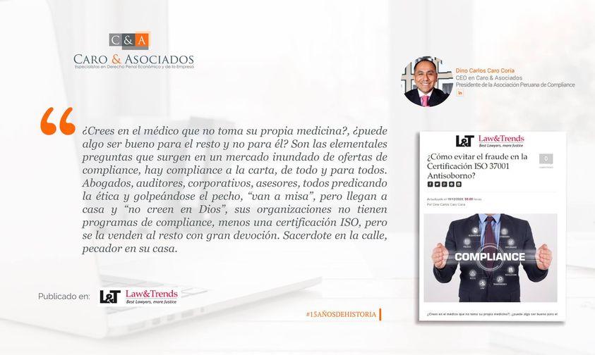 """""""¿Cómo evitar el fraude en la Certificación ISO 37001 Antisoborno?""""."""