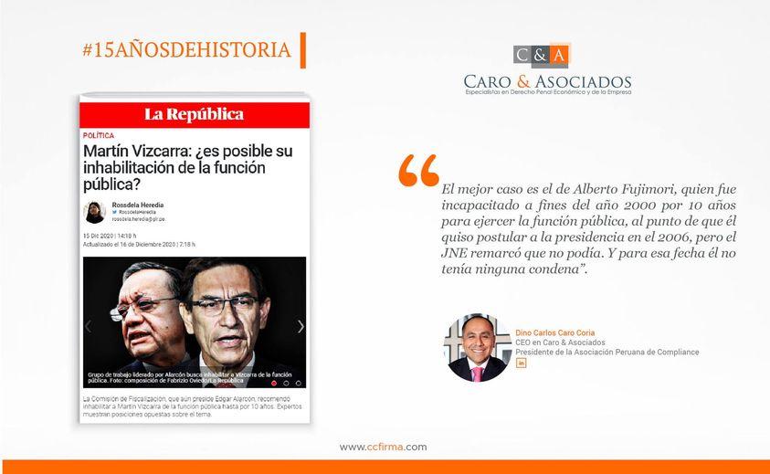 Ino Carlos Caro Coria, Comenta Para Diario La República(15.12.20)
