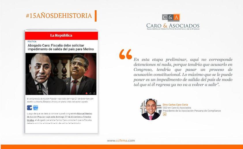 Dino Carlos Caro Coria, comenta para el Diario La República (27.12.20)