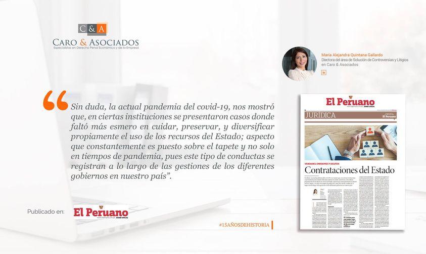 """Artículo: """"Contrataciones Del Estado""""."""