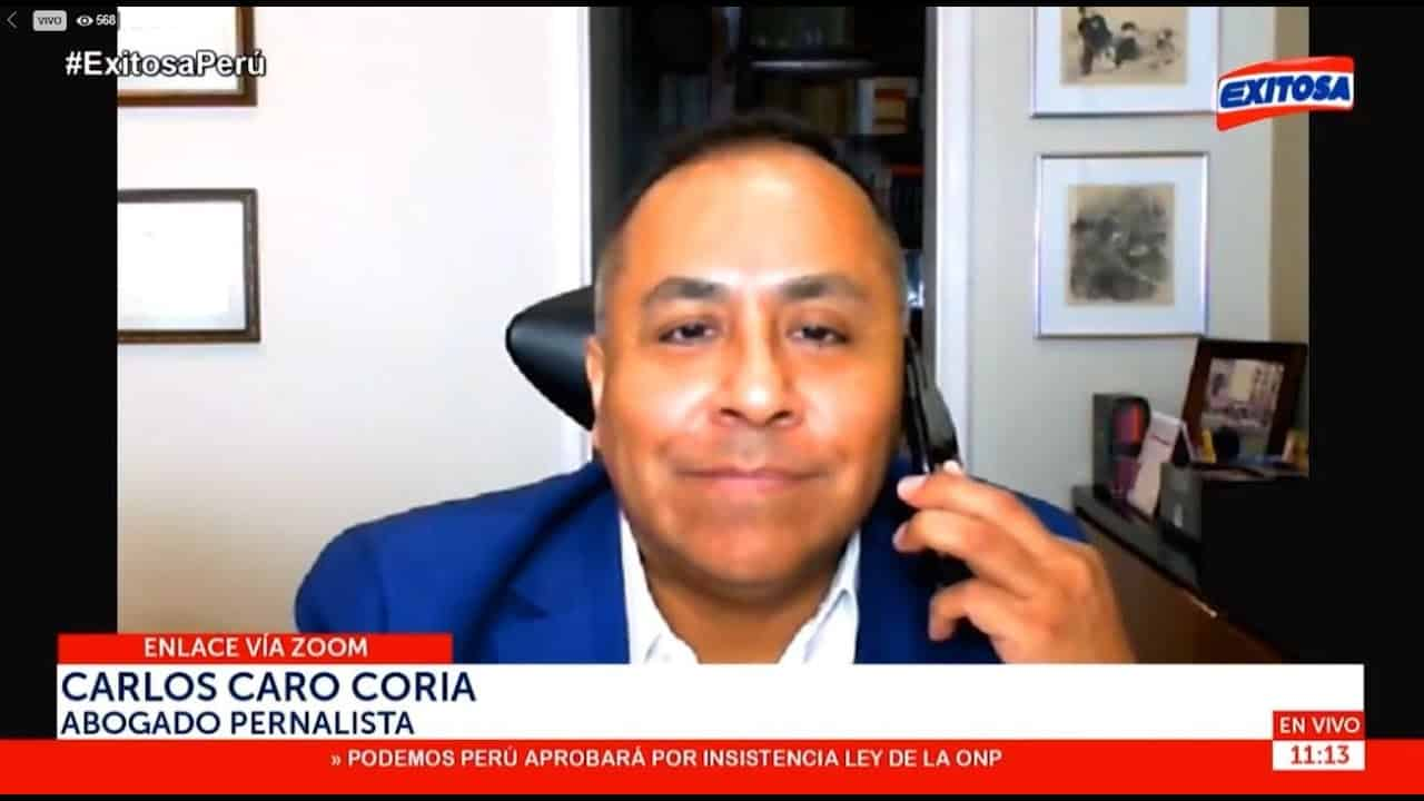 Dino Carlos Caro Coria, comenta para Exitosa Noticias (30.11.20)