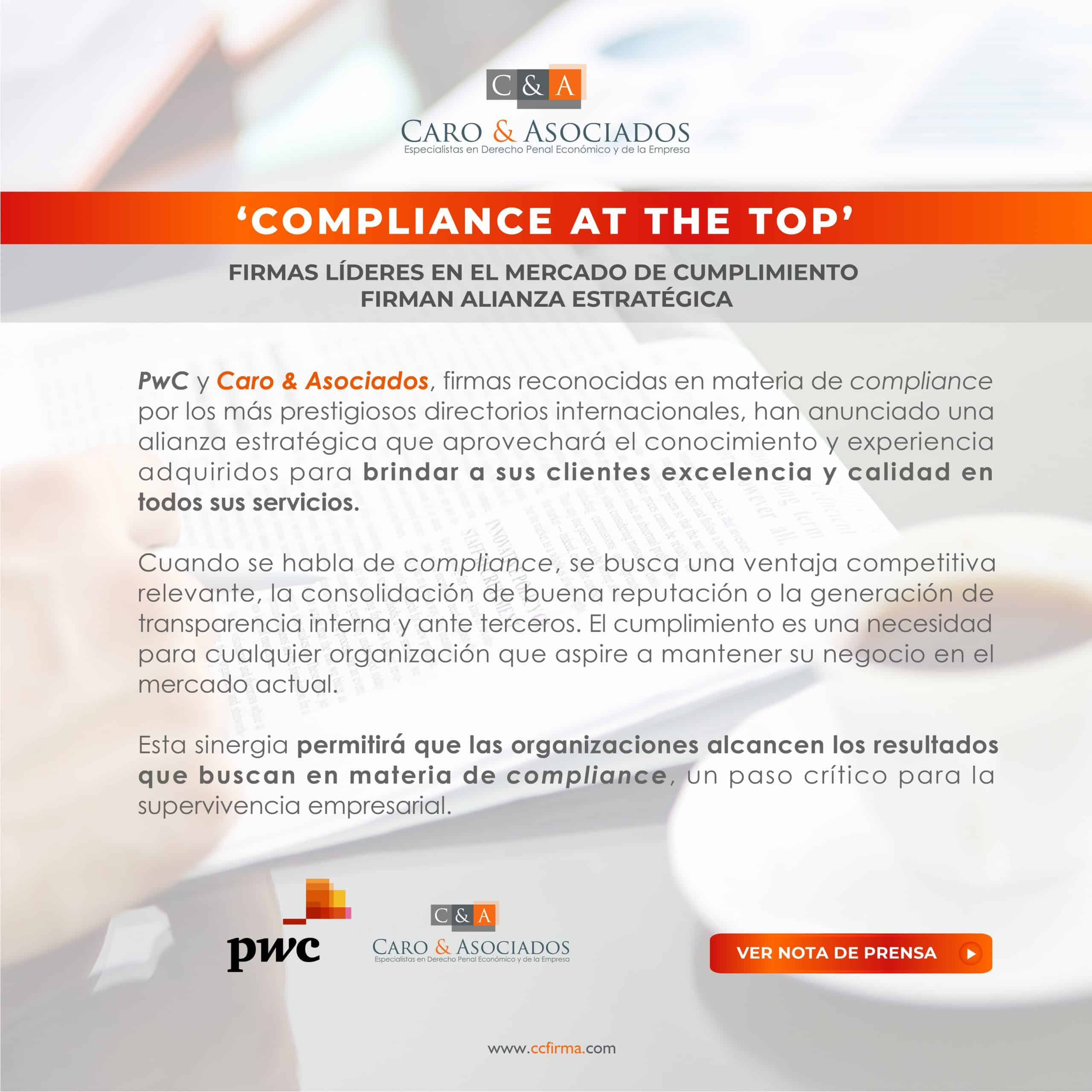 'Compliance At The Top'