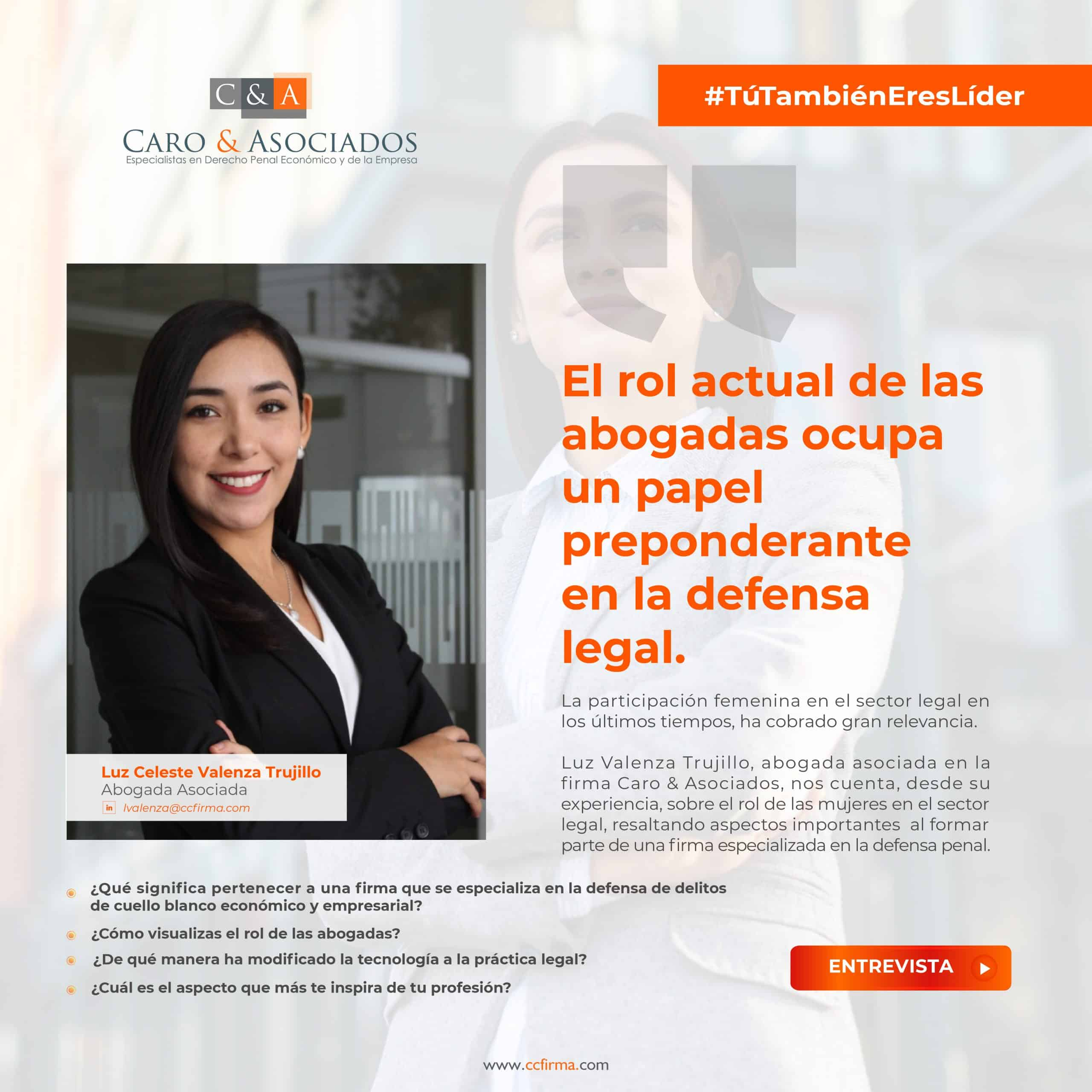 «El Rol Actual De Las Abogadas Ocupa Un Papel Preponderante En La Defensa Legal», Luz Celeste Valenza